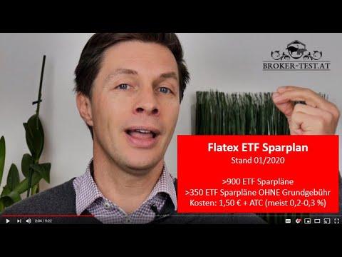 Flatex ETF Sparplan 2020 - Stand 01/2020
