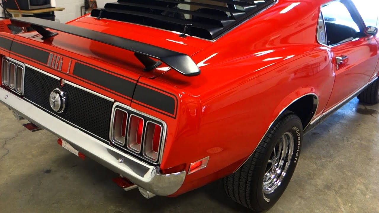 1970 Ford Mustang Mach 1 428 Cj R Code 4 Speed Low