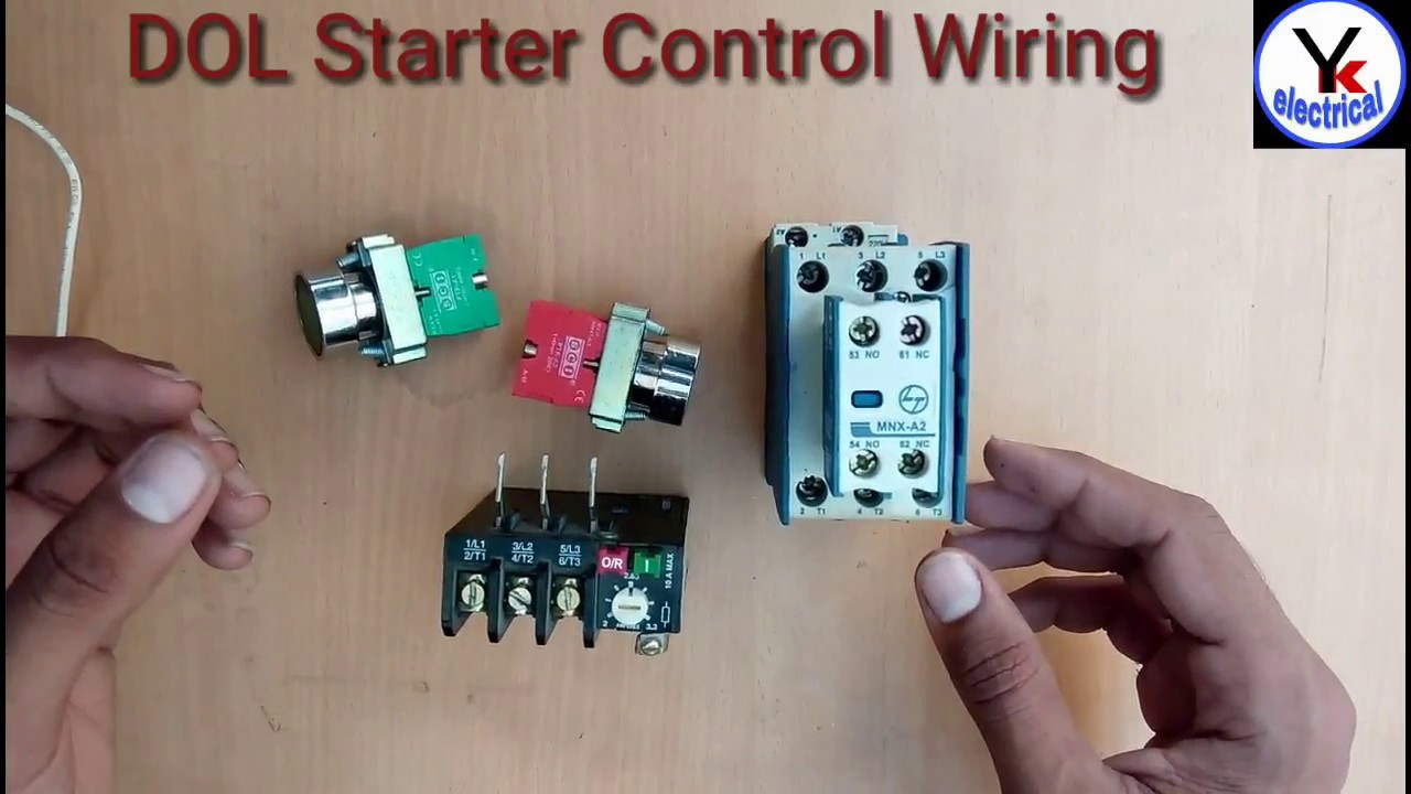 3 Phase Start Stop Wiring Diagram Sr7 Avr Dol Starter Control Direct On Line Yk Electrical