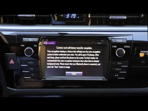 Demonstrating Entune Audio Features