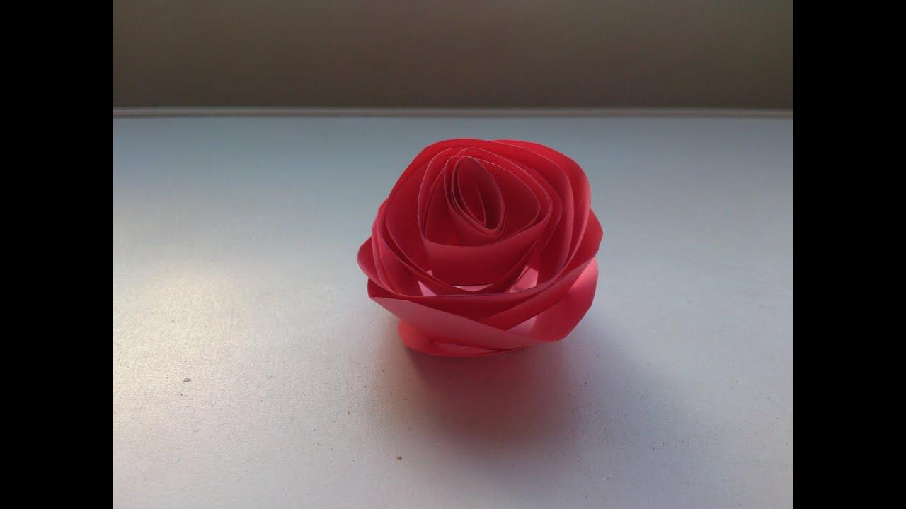 Cmo hacer una rosa de cartulina facilisimocom YouTube