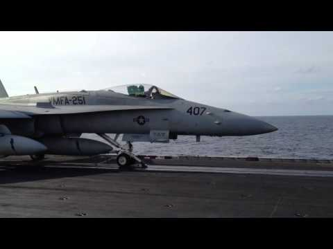 F18's Take Off from USS Enterprise