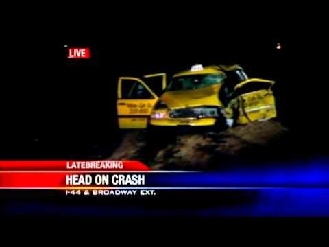 Head-on crash involving taxi closes Broadway Extension