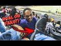 DUDE GETS EXPOSED FOR WEARING FAKE YEEZYS!!! [Public Humiliation]