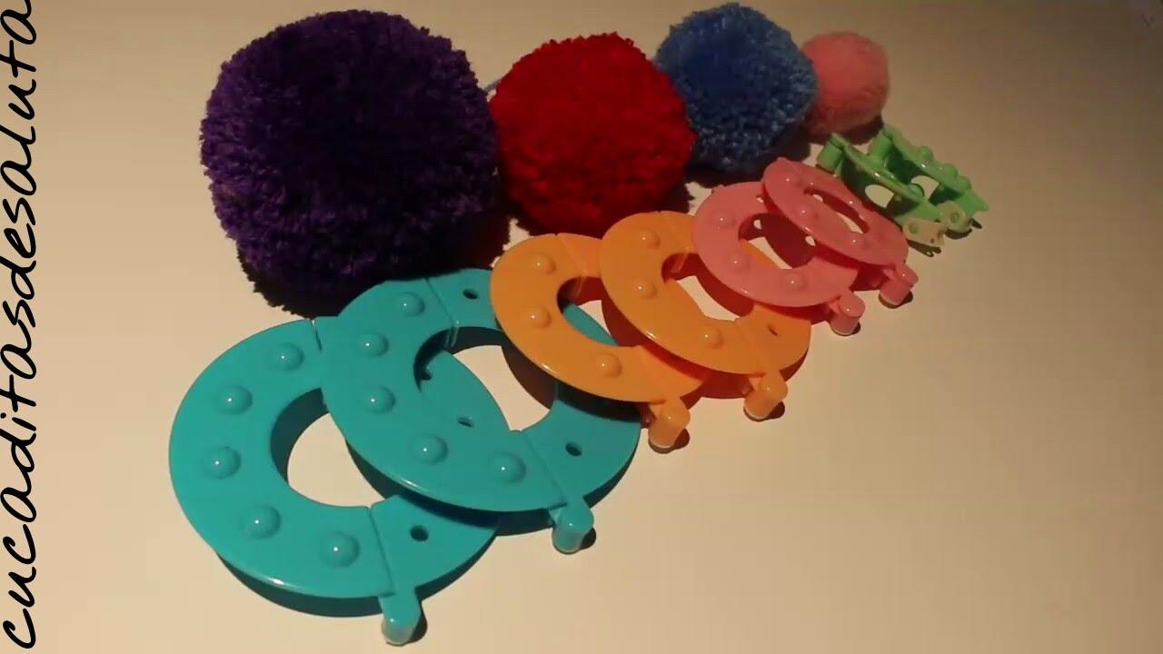 Pompones de lana set 4 discos paso a paso diy doovi - Como hacer pompones de lana rapido ...