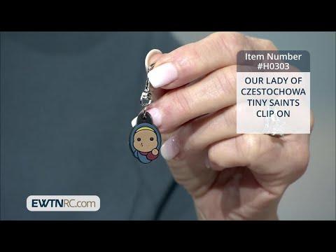 H0303_OUR LADY OF CZESTOCHOWA-TINY SAINTS CLIP ON