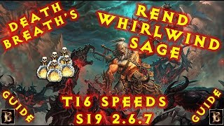 Diablo 3 S19 WW Rend Barb Sage Bul-Kathos T16 Speeds 2.6.7 Build
