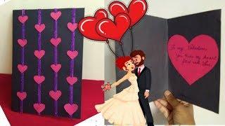 Beautiful Handmade Valentine's Day Special DIY|Greeting Card Tutorial Idea@home