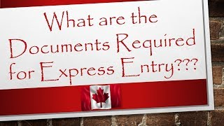Documents Required for Express Entry | Canada Immigration