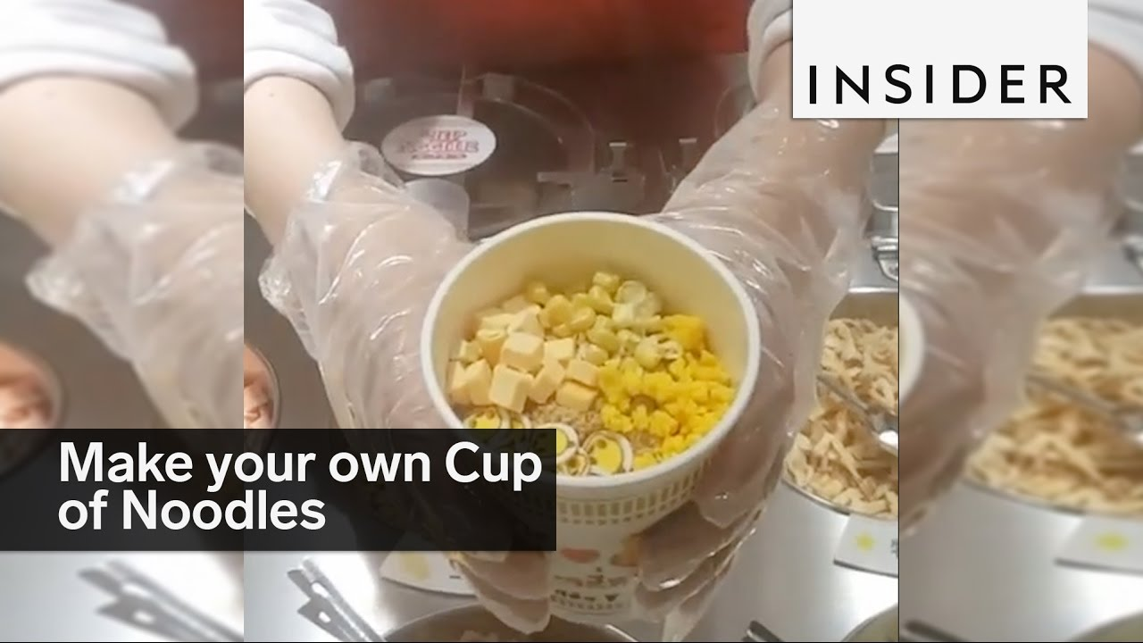 make your own cup of noodles at the instant ramen museum