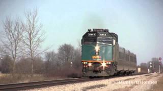 VIA Rail F40PH-2 # 6444 just before wreck [HD]