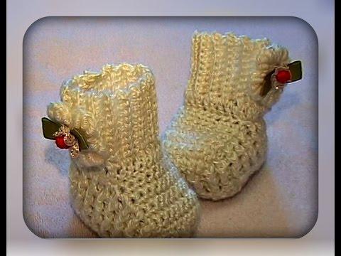 пинетки для новорожденных, вязание крючком