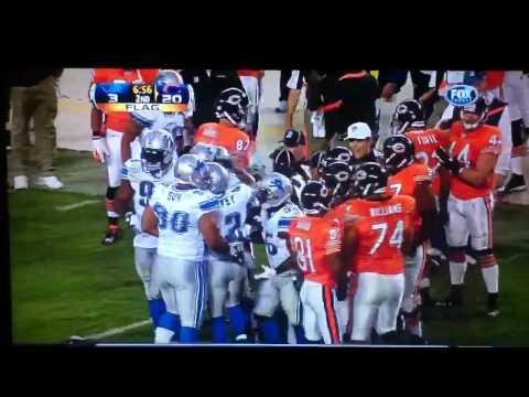 Detroit Lions Ndamukong Suh rips Bears QB Jay Cutlers helmet off