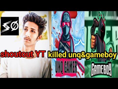 Unq Gamer Vs Shoutout YT Intense Fight unq vs shoutout