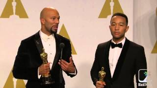 Academy Awards Backstage w/ Common and John Legend