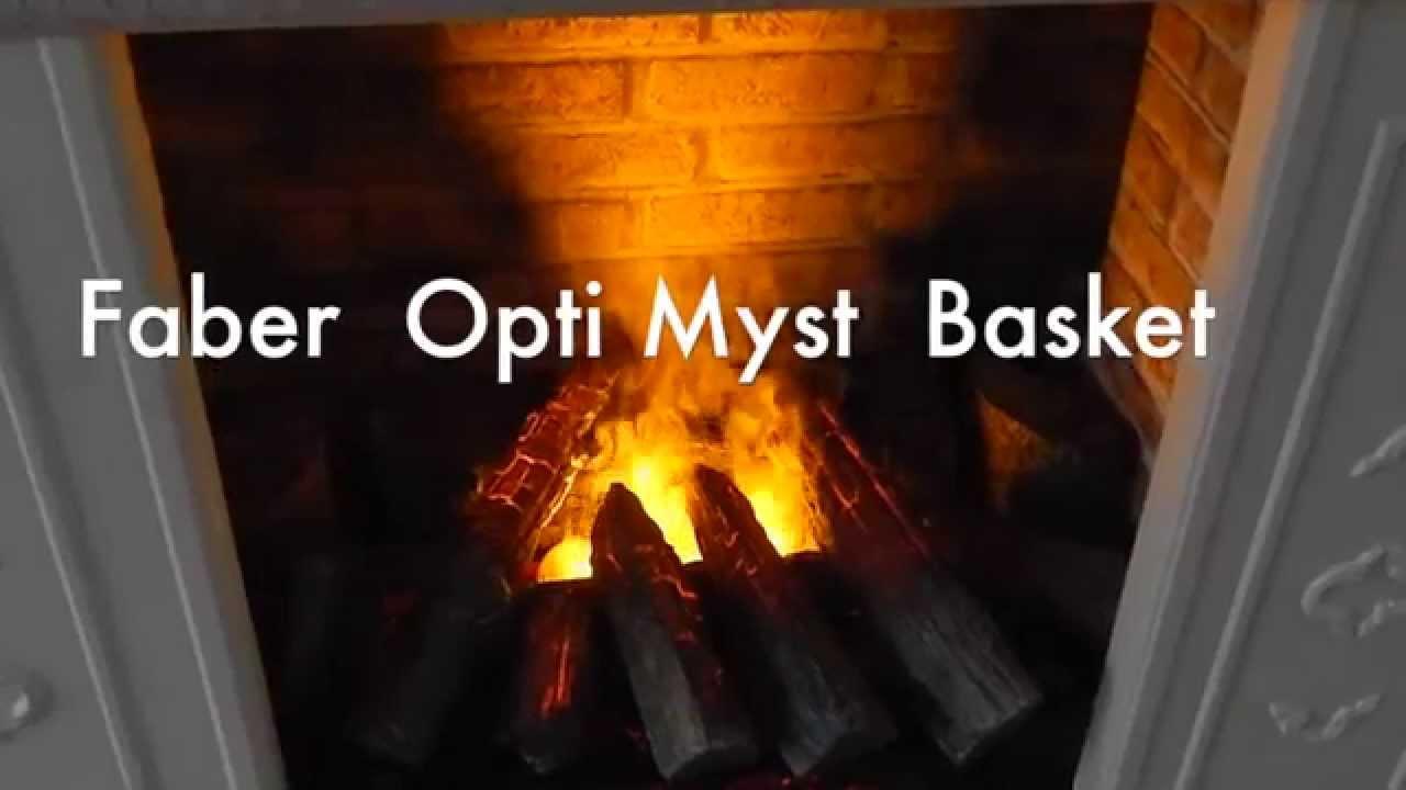faber opti myst basket electric flame 3d effect youtube. Black Bedroom Furniture Sets. Home Design Ideas
