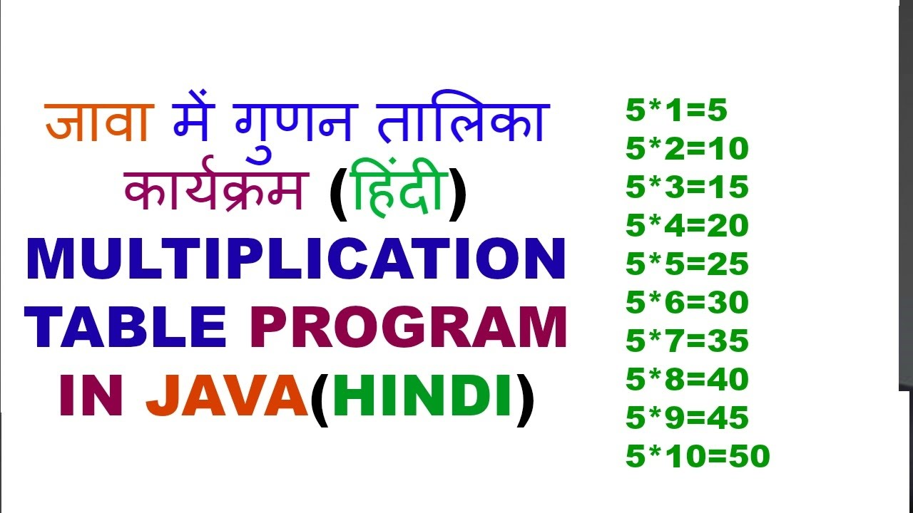 Multiplication table program in javahindi youtube multiplication table program in javahindi gamestrikefo Image collections