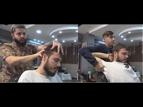 ASMR Young Turkish Barbers Head Massage, Face Massage And Back Massage 320