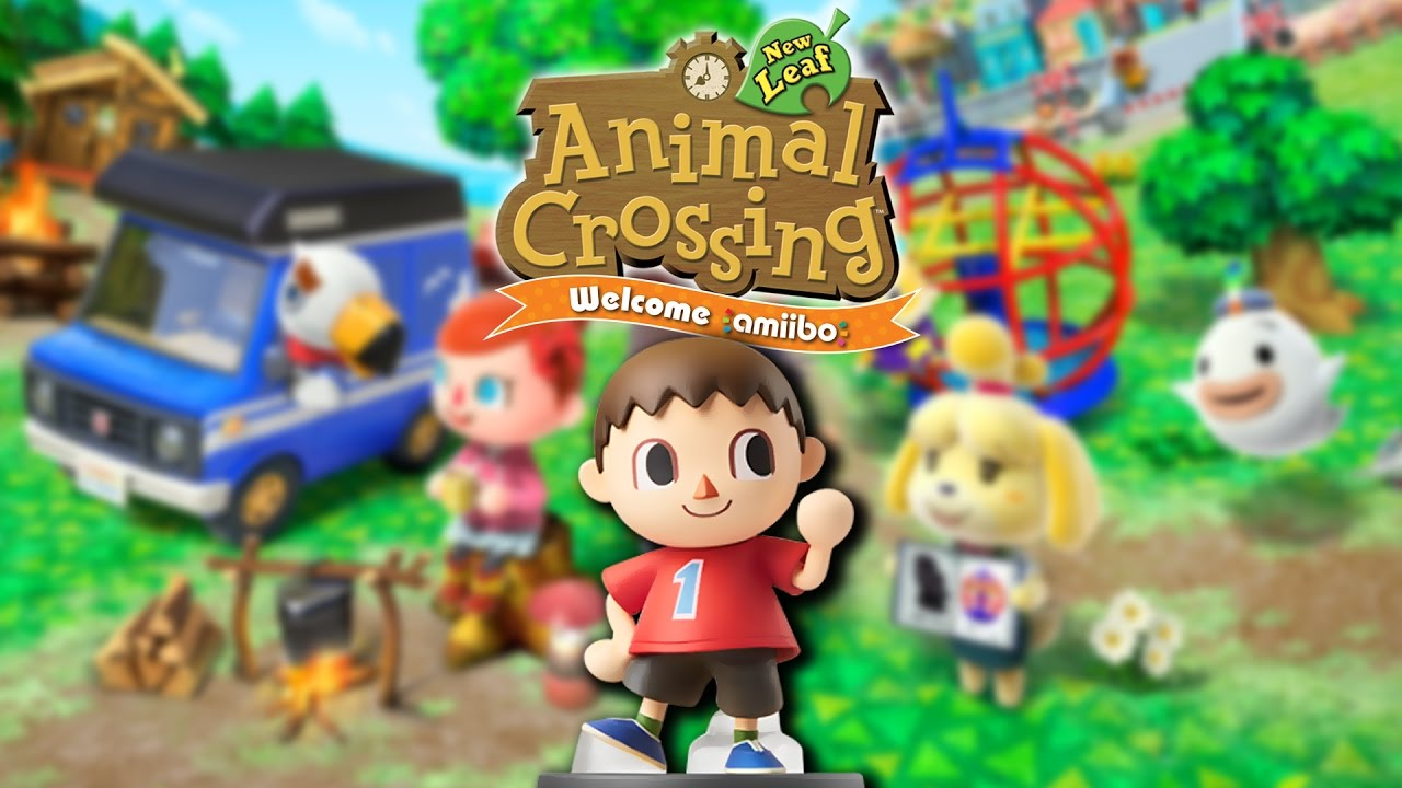 Amiibo Crossing Scanning The Villager Amiibo In Animal Crossing New Leaf Welcome Amiibo