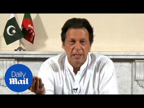 Imran Khan addresses the nation on verge of winning election - Daily Mail