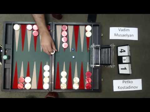 Carolina Backgammon R1 Petko Kostadinov v Vadim Masaelyan