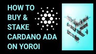How to Buy Cardano ADA on Yoroi
