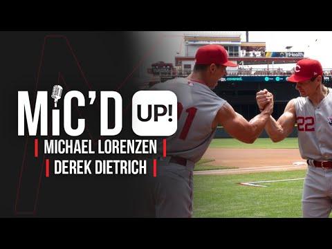 Cincinnati Reds Michael Lorenzen & Derek Dietrich Get Mic'd Up For Batting Practice!