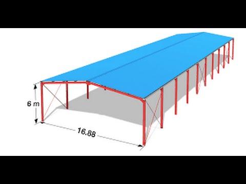 Etude Complete D Un Hangar En Charpente Metallique Sur Le Logiciel Robot Structure Analysis 1