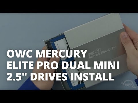 How to Install Two 2.5-inch Hard Drives or SSDs in an OWC Mercury Elite Pro Dual mini