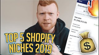 THE 5 BEST SHOPIFY DROPSHIPPING NICHES 2019! HOW TO PICK WINNING PRODUCTS!