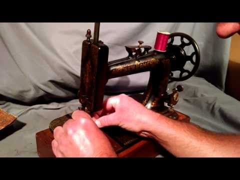 How to Thread Antique New Home Treadle Sewing Remington Machine and Shuttle