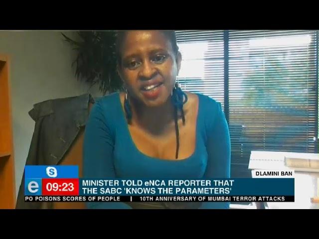 SANEF weighs in on Minister Dlamini, eNCA fiasco