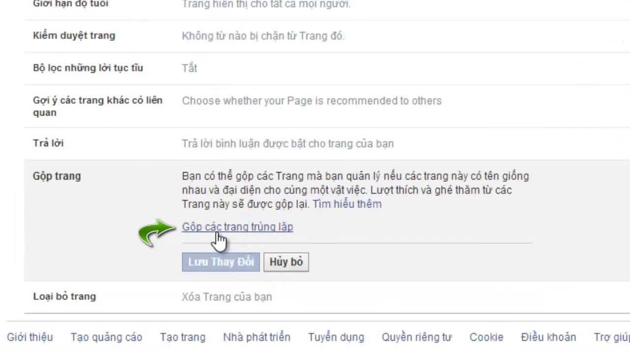 Cách gộp 2 Facebook Fanpage lại thành 1 Fanpage Mới Nhất 2013 - Tháng 9