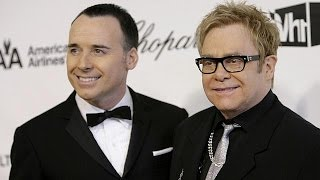 Elton John weds after new UK gay marriage law comes into force