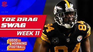 Top Toe-Drag Swag Catches from Week 11 😎 🏈  | Good Morning Football | NFL Highlights
