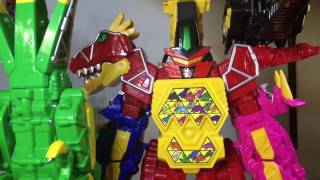 Power rangers Dino charge ultrazord stop motion