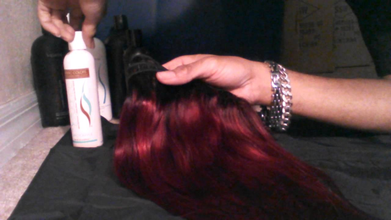 Influance Hair Color Redwine On Weave Pt 2 Youtube