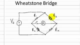 Circuits Wheatstone Bridge Part 1