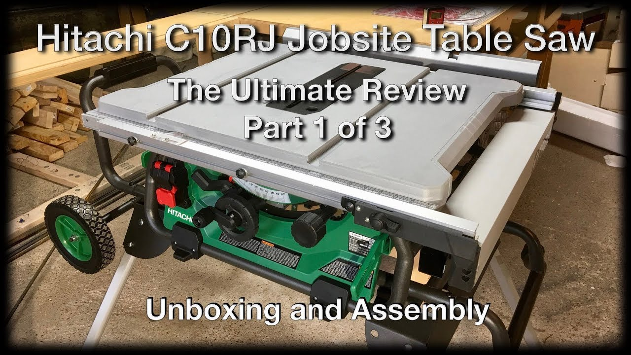 Hitachi c10rj table saw unboxing the hitachi jobsite table saw hitachi c10rj table saw unboxing the hitachi jobsite table saw ultimate review part 1 of 3 keyboard keysfo Gallery