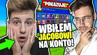 I PUT JACOBOWI INTO THE FORTNITE ACCOUNT! * WHAT IS THE SKINS? * (ACCOUNT ENTRY: JACOB)