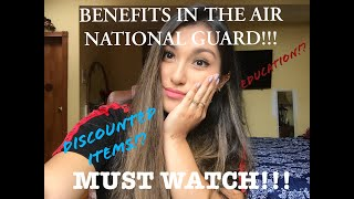 BENEFITS IN THE AIR FORCE- AIR NATIONAL GUARD! EXPLAINED!! | MUST WATCH!