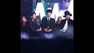 BTS reaction to  iKON -  RHYTHM TA  Melon music awards 2015