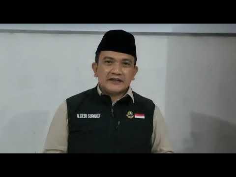 Ucapan selamat datang Kepala Dinas Pendidikan Prov. Jawa Barat