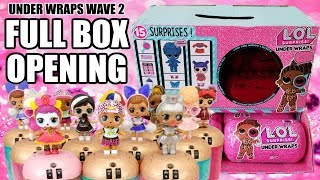 LOL Surprise Under Wraps Wave 2 FULL BOX OPENING | L.O.L. Full Case Unboxing All 12 Eye Spy Capsules