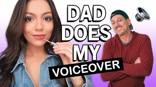 my dad does my makeup