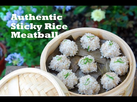 How to Make Hubei Sticky Rice Pearl Meatballs (珍珠丸子)