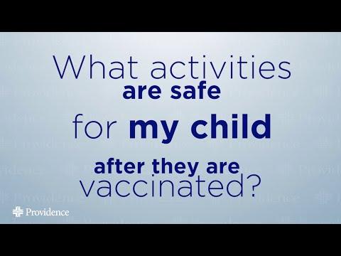 COVID-19 Vaccine Children Activities After Receiving