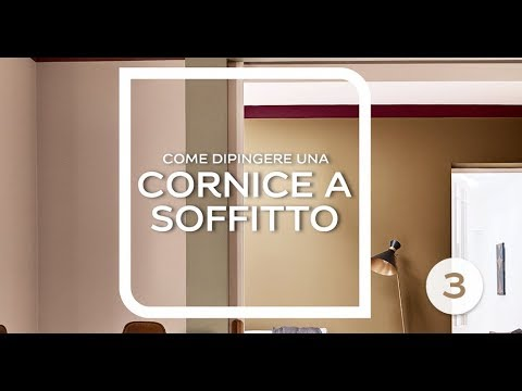 Come Dipingere Una Cornice A Soffitto Youtube