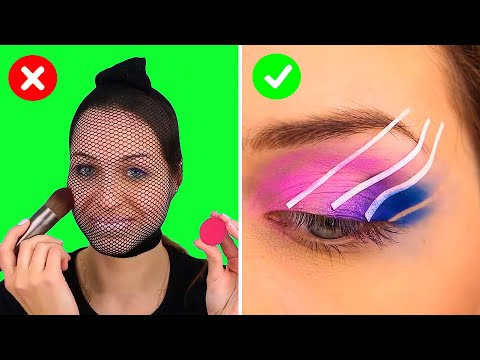 Beauty life hacks! | 29 MAKEUP AND BEAUTY ROUTINE TRICKS