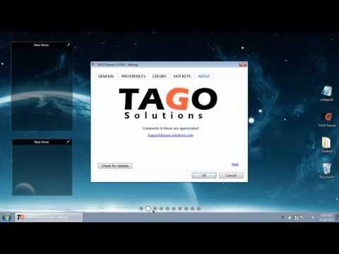 TaGo-fences 25 Desktop enhanced freeware - YouTube